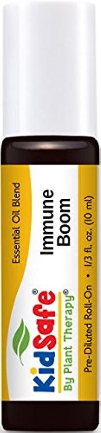 構成する公爵宿命Plant Therapy KidSafe Immune Boom Synergy Pre-Diluted Essential Oil Roll-On. Ready to use! Blend of: Lemon, Palmarosa, Dill, Petitgrain, Copaiba and Frankincense Carteri. 10 ml (1/3 oz).