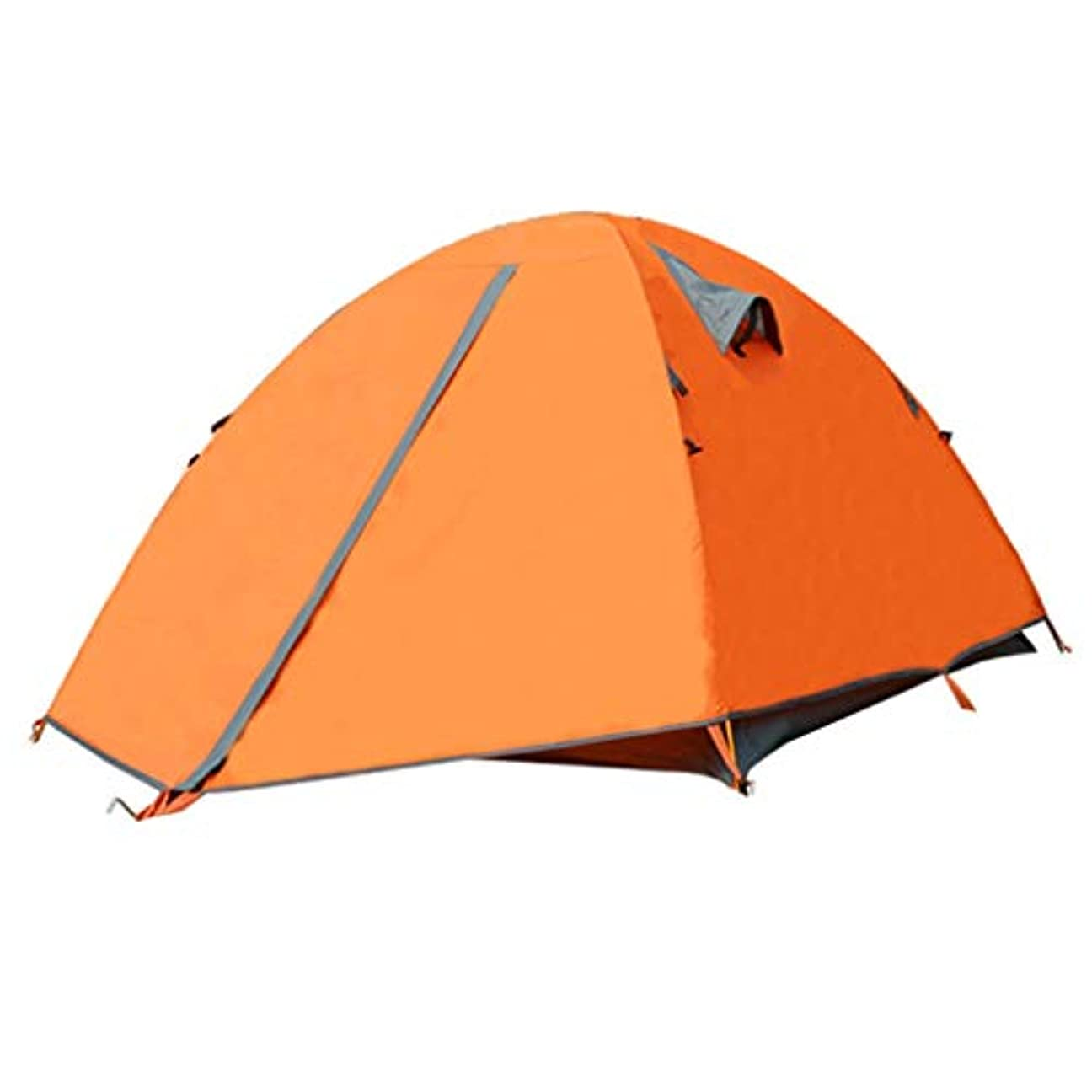 保全支払いオリエンテーションYONGFEIhun テント、アウトドアキャンプキャンプマウンテンテント、アルミポールダブル防雨テント大スペースダブルオレンジ