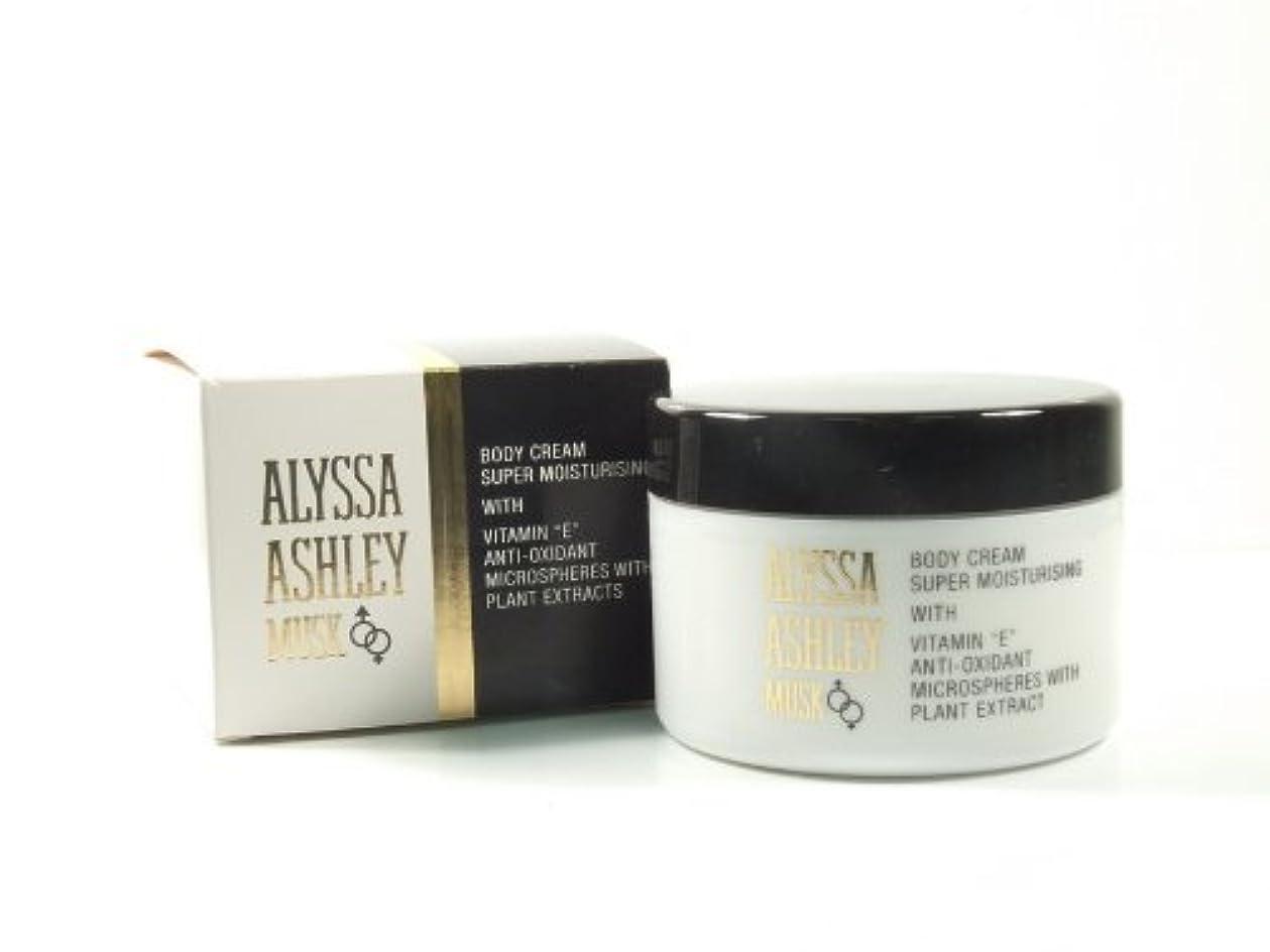 リズム化学薬品衝突するAlyssa Ashley Musk Body Cream 250ml by Alyssa Ashley