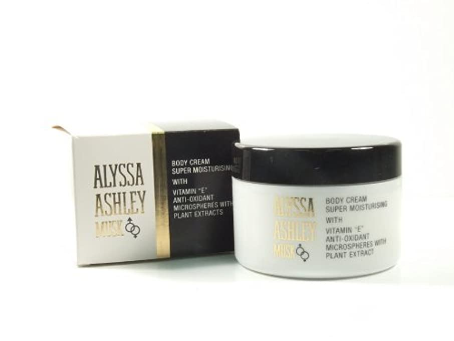 スパンラッシュ忠誠Alyssa Ashley Musk Body Cream 250ml by Alyssa Ashley