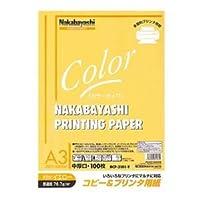 (業務用セット) コピー&プリンタ用紙 カラータイプ A3 100枚入 HCP-3101-Y【×5セット】