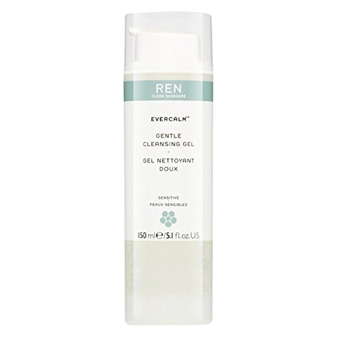 会議桃情熱的Ren Evercalm優しいクレンジングジェル、150ミリリットル (REN) (x6) - REN Evercalm Gentle Cleansing Gel, 150ml (Pack of 6) [並行輸入品]
