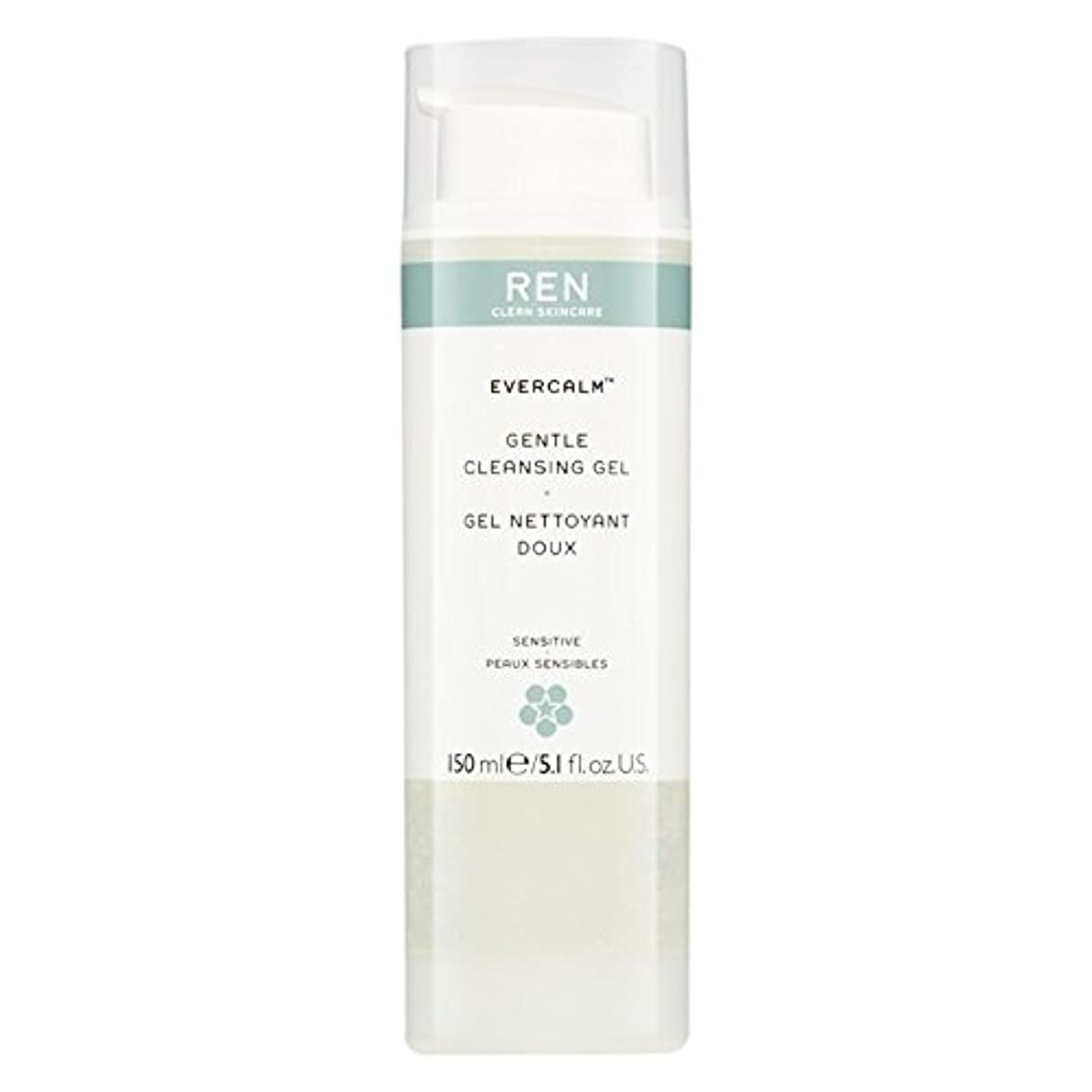 農場本噂Ren Evercalm優しいクレンジングジェル、150ミリリットル (REN) - REN Evercalm Gentle Cleansing Gel, 150ml [並行輸入品]