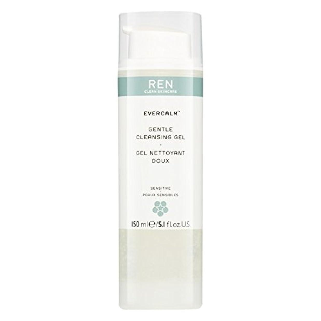 運賃起こりやすい縫い目Ren Evercalm優しいクレンジングジェル、150ミリリットル (REN) (x6) - REN Evercalm Gentle Cleansing Gel, 150ml (Pack of 6) [並行輸入品]