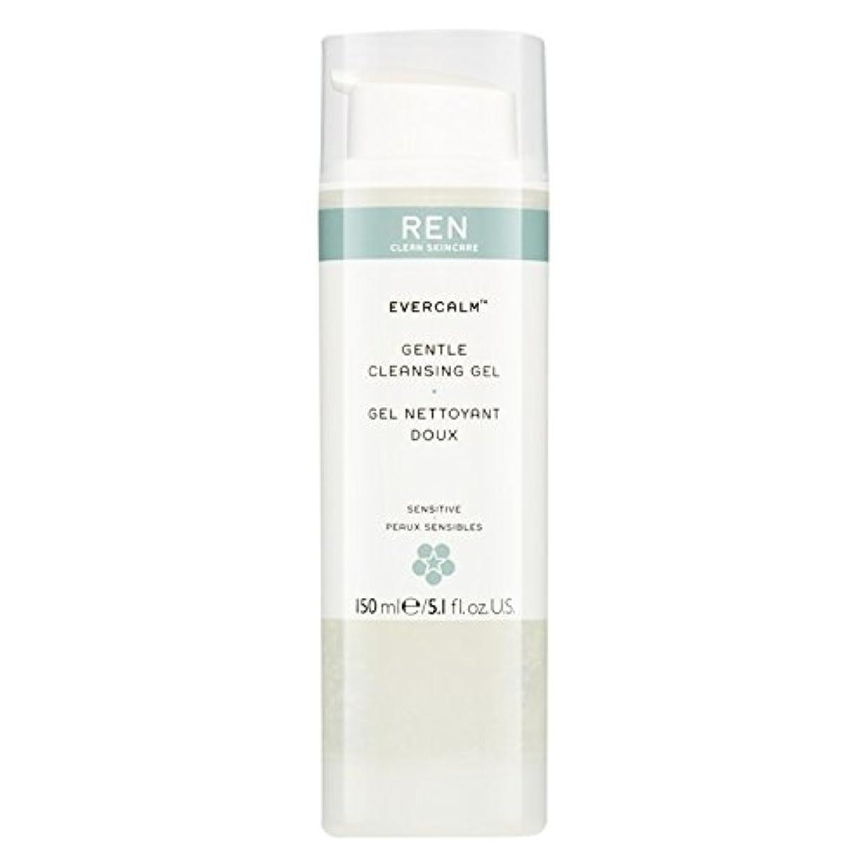 追い払うケニアラフレシアアルノルディRen Evercalm優しいクレンジングジェル、150ミリリットル (REN) (x6) - REN Evercalm Gentle Cleansing Gel, 150ml (Pack of 6) [並行輸入品]