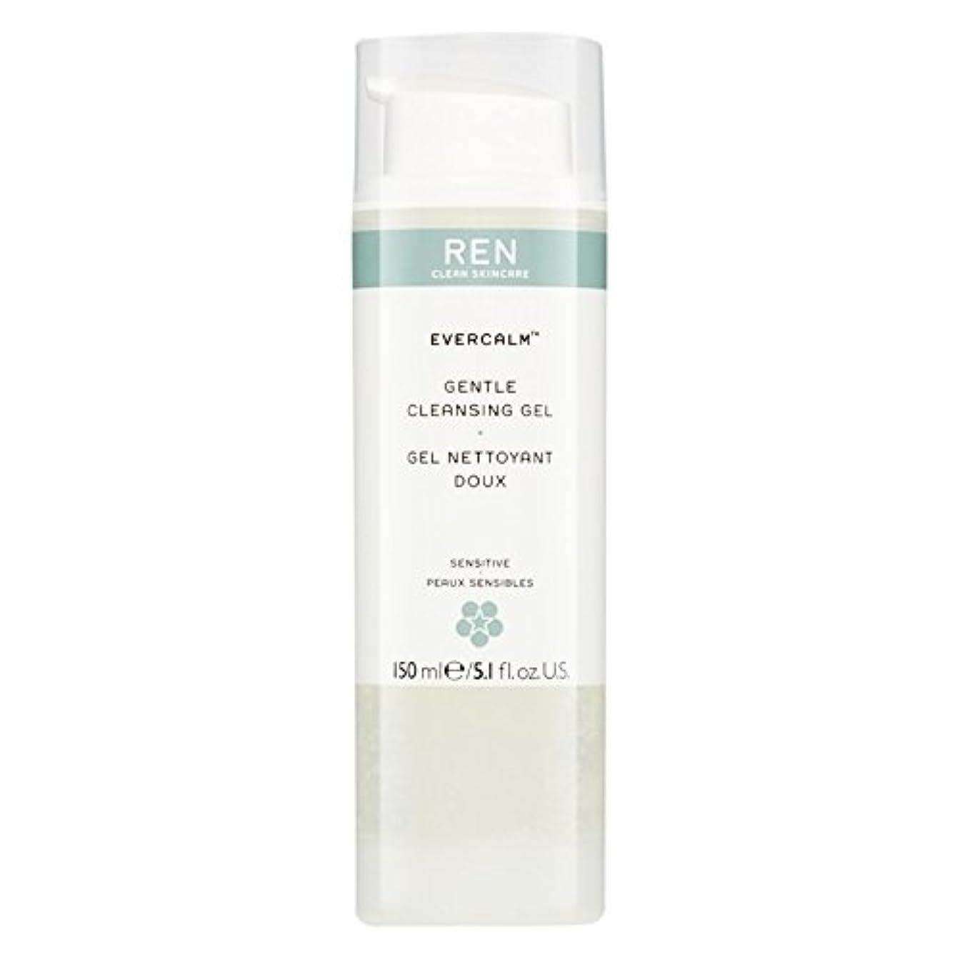 不幸単語識字Ren Evercalm優しいクレンジングジェル、150ミリリットル (REN) (x6) - REN Evercalm Gentle Cleansing Gel, 150ml (Pack of 6) [並行輸入品]