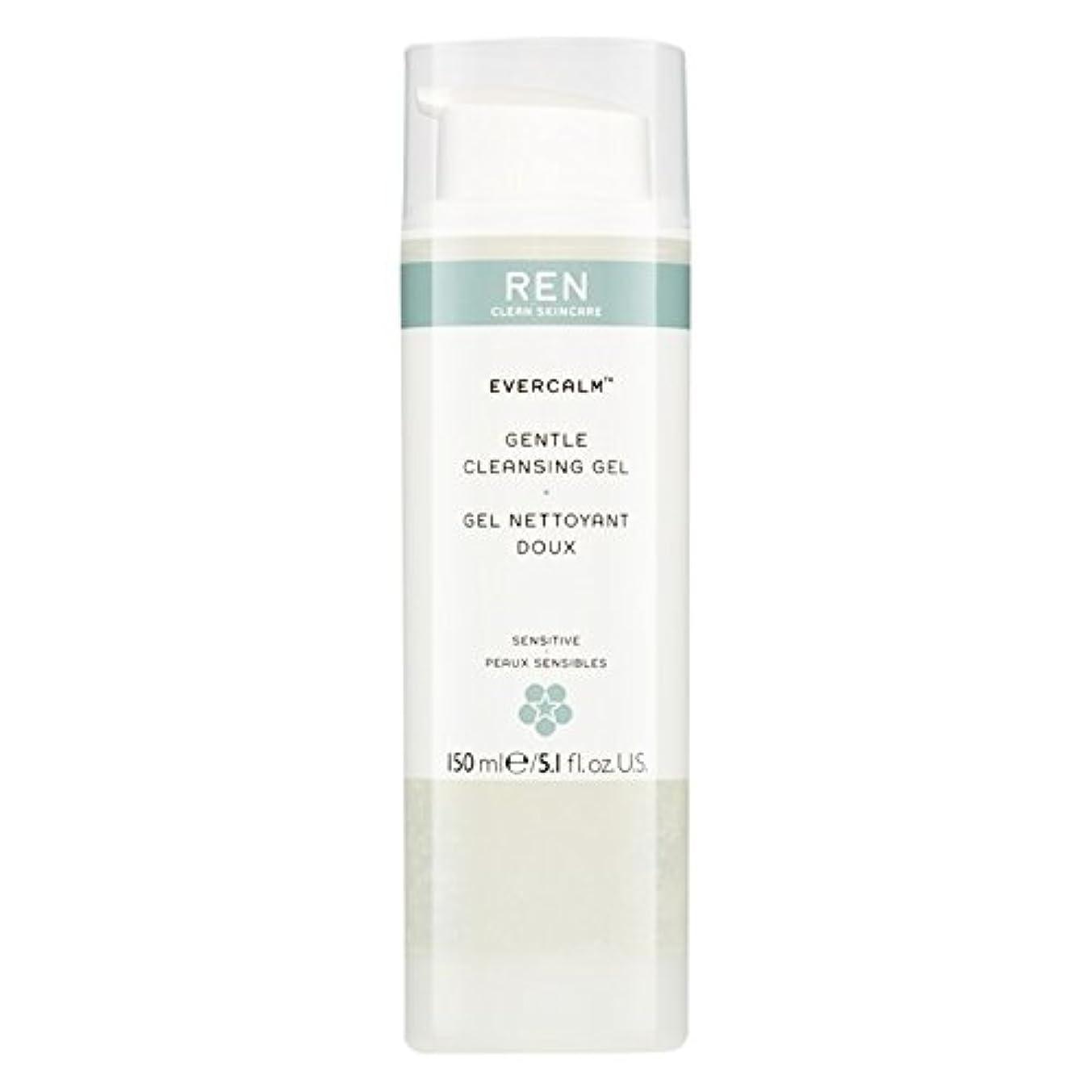 チャンピオンシップテナント破壊的なRen Evercalm優しいクレンジングジェル、150ミリリットル (REN) (x6) - REN Evercalm Gentle Cleansing Gel, 150ml (Pack of 6) [並行輸入品]