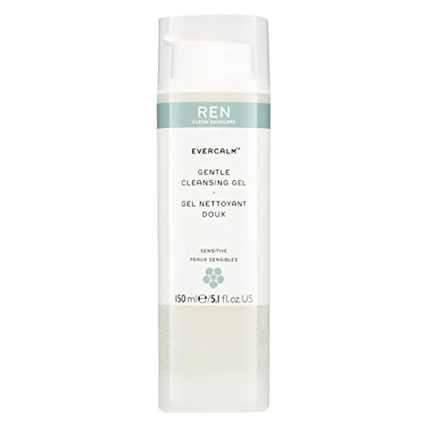 モバイル八百屋ミキサーRen Evercalm優しいクレンジングジェル、150ミリリットル (REN) (x6) - REN Evercalm Gentle Cleansing Gel, 150ml (Pack of 6) [並行輸入品]