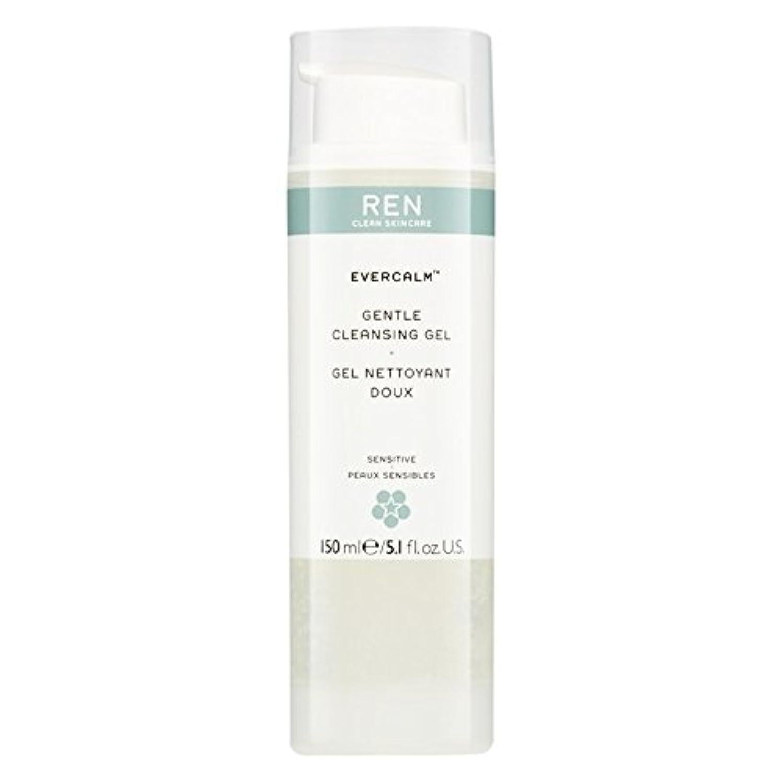 十年フロンティア可決Ren Evercalm優しいクレンジングジェル、150ミリリットル (REN) (x6) - REN Evercalm Gentle Cleansing Gel, 150ml (Pack of 6) [並行輸入品]