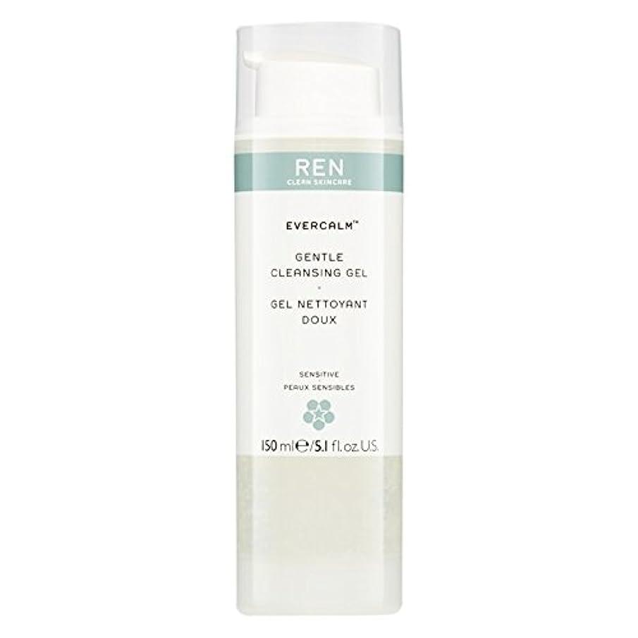 征服火山の助けてRen Evercalm優しいクレンジングジェル、150ミリリットル (REN) (x6) - REN Evercalm Gentle Cleansing Gel, 150ml (Pack of 6) [並行輸入品]
