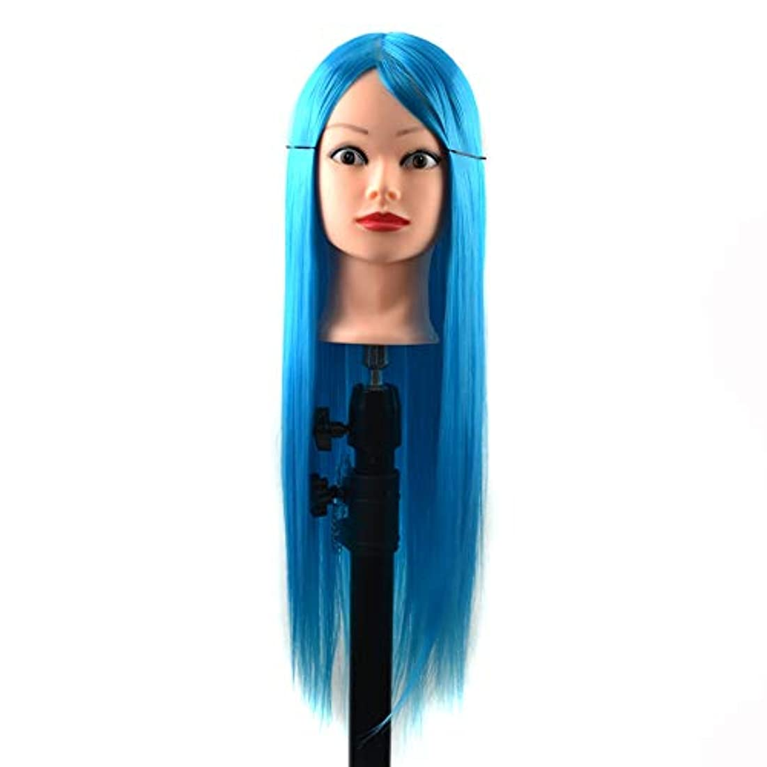 電信ヒロイック皮肉WTYD 美容ヘアツール 練習用ディスクの髪編組マネキンヘッドウィッグスタイリングトリミングヘッドモデル (色 : Sky Blue)