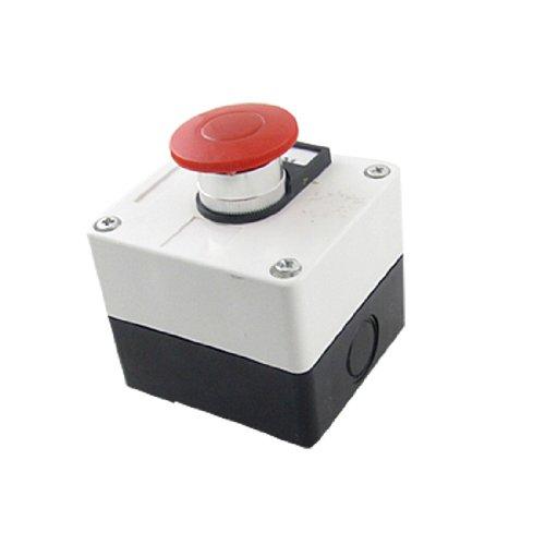 uxcell プッシュボタンスイッチ 押しボタンスイッチ キノコキャップ 600V 10A モーメンタリ スイッチ 赤 緑 キノコ