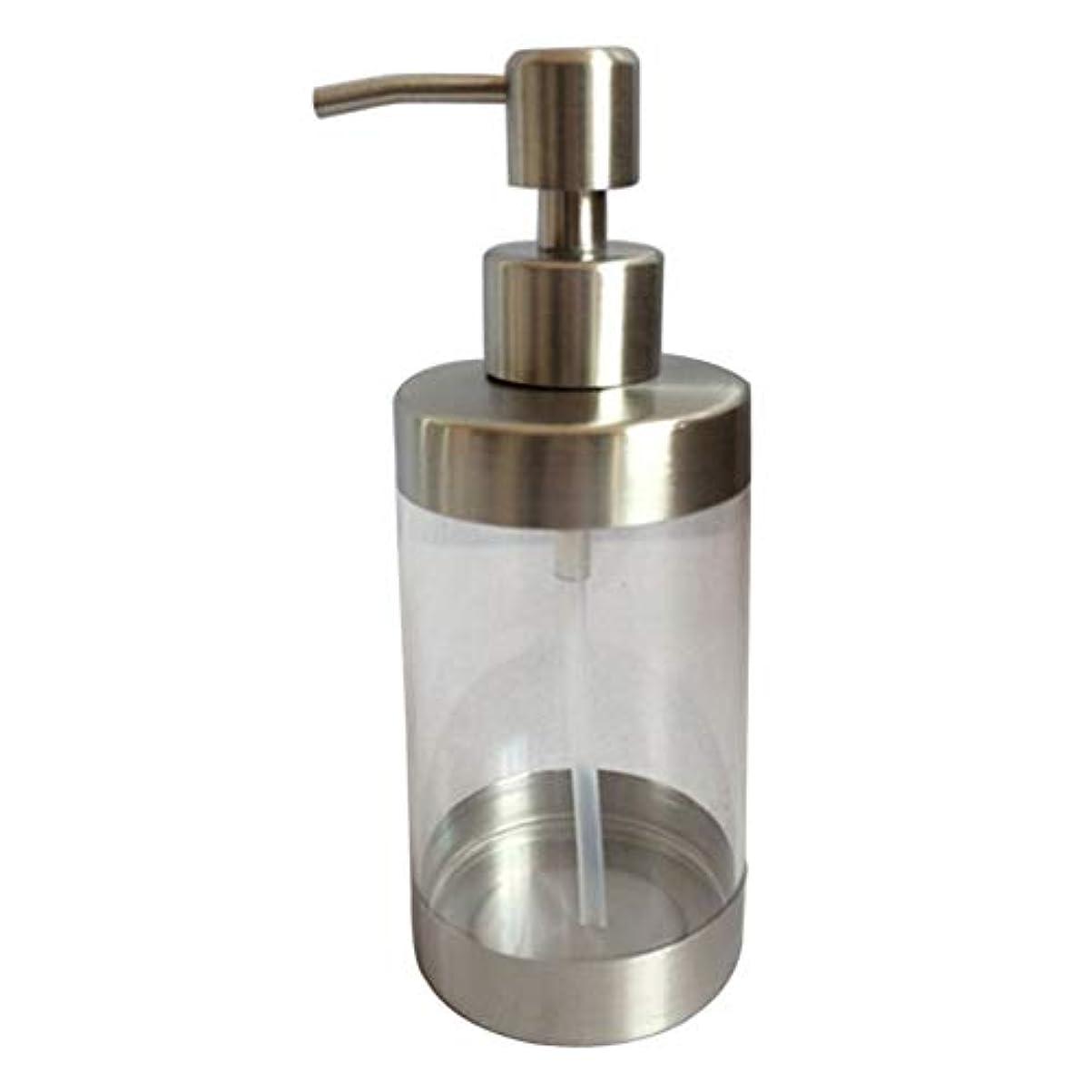 有名な味位置するTOPBATHY 浴室の台所のためのポンプが付いている1pc 350MLの明確なカウンタートップの石鹸のローションディスペンサーのびん