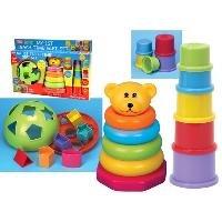 [ファンタイム]Funtime Teach Time Gift Set with Shape Sorter, Bear Stacker Stacking Cups 8.50E+08 [並行輸入品]
