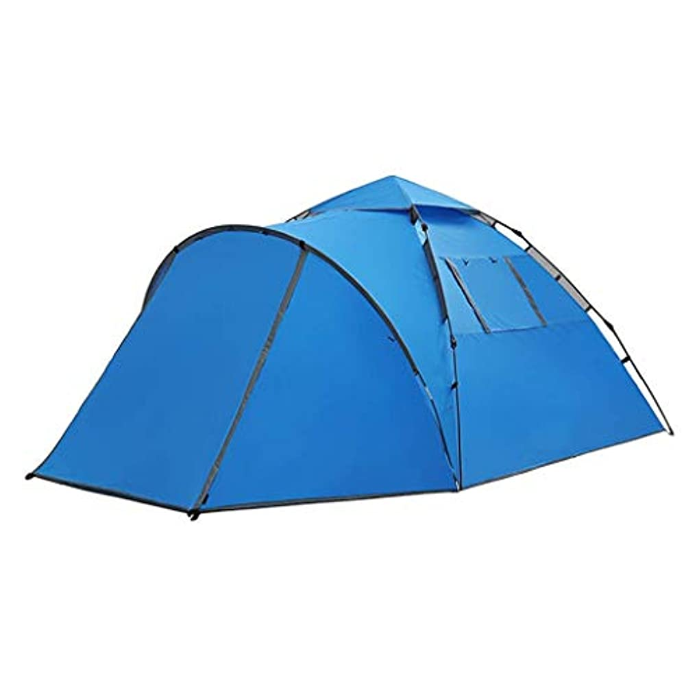ヒット悪い準備ができてIDWOI テント 屋外テント 大 3-4人 多機能 防水 携帯用テント キャンプ用 ハイキング 登山 、青