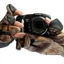 迷彩 カメラマン グローブ 防寒 手袋 スマホ タッチパネル 対応 L XL (XL)