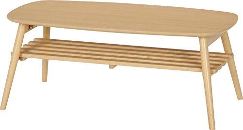 不二貿易 折れ脚センターテーブル ノルン 完成品 幅100cm 高さ40cm ナチュラル 96351