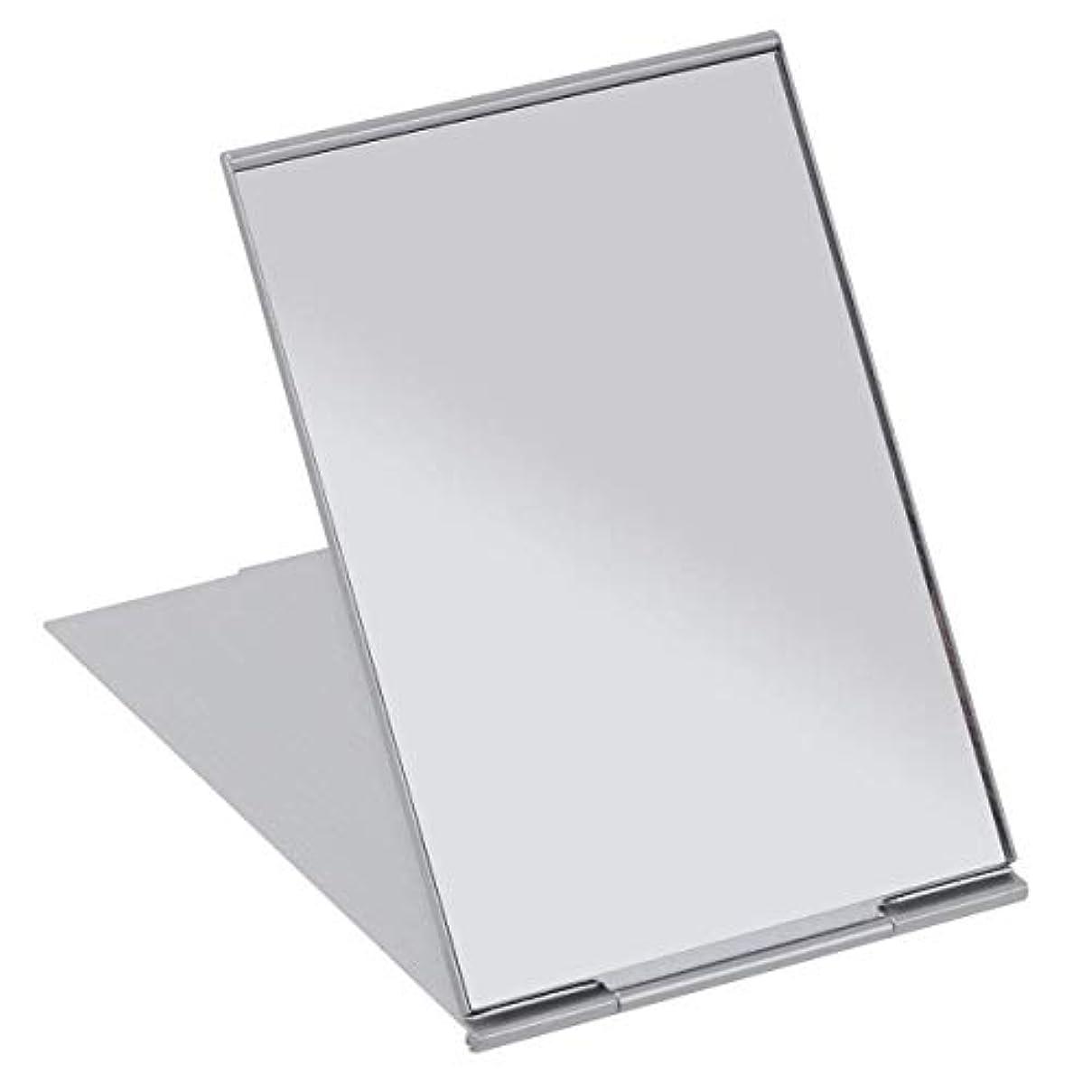 分割大いに手配するSALOCY コンパクトミラー モデル折立ミラー 化粧鏡 携帯ミラー 11.5*8cm 持ち運びに便利