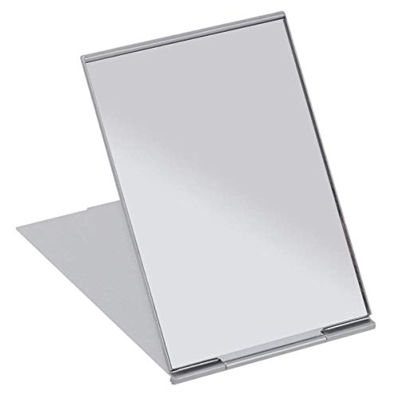 SALOCY コンパクトミラー モデル折立ミラー 化粧鏡 携帯ミラー 11.5*8cm 持ち運びに便利