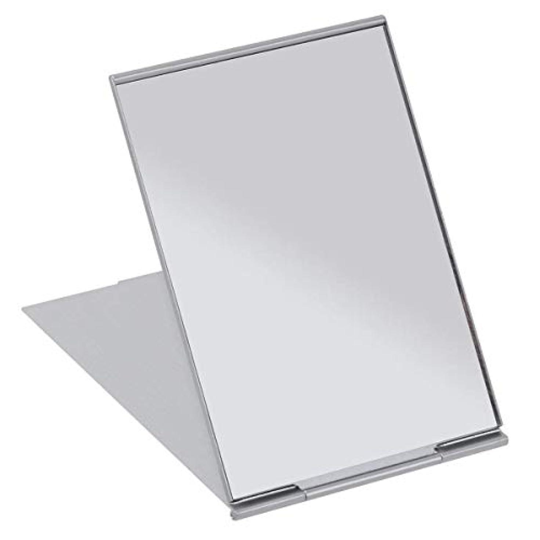 賞式プログレッシブSALOCY コンパクトミラー モデル折立ミラー 化粧鏡 携帯ミラー 11.5*8cm 持ち運びに便利