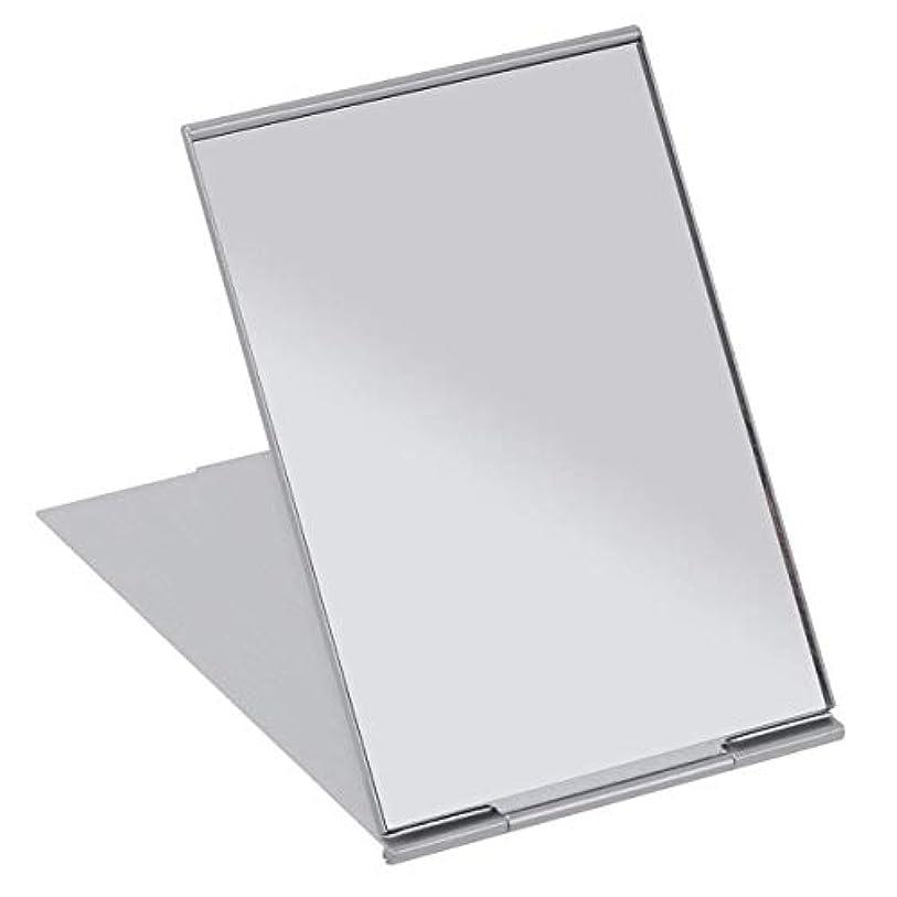 汗ストレス描写SALOCY コンパクトミラー モデル折立ミラー 化粧鏡 携帯ミラー 11.5*8cm 持ち運びに便利