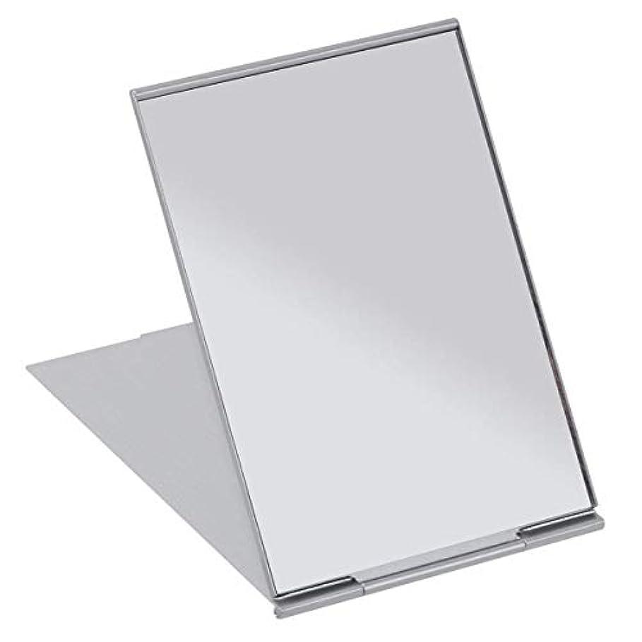 飢空いているガードSALOCY コンパクトミラー モデル折立ミラー 化粧鏡 携帯ミラー 11.5*8cm 持ち運びに便利