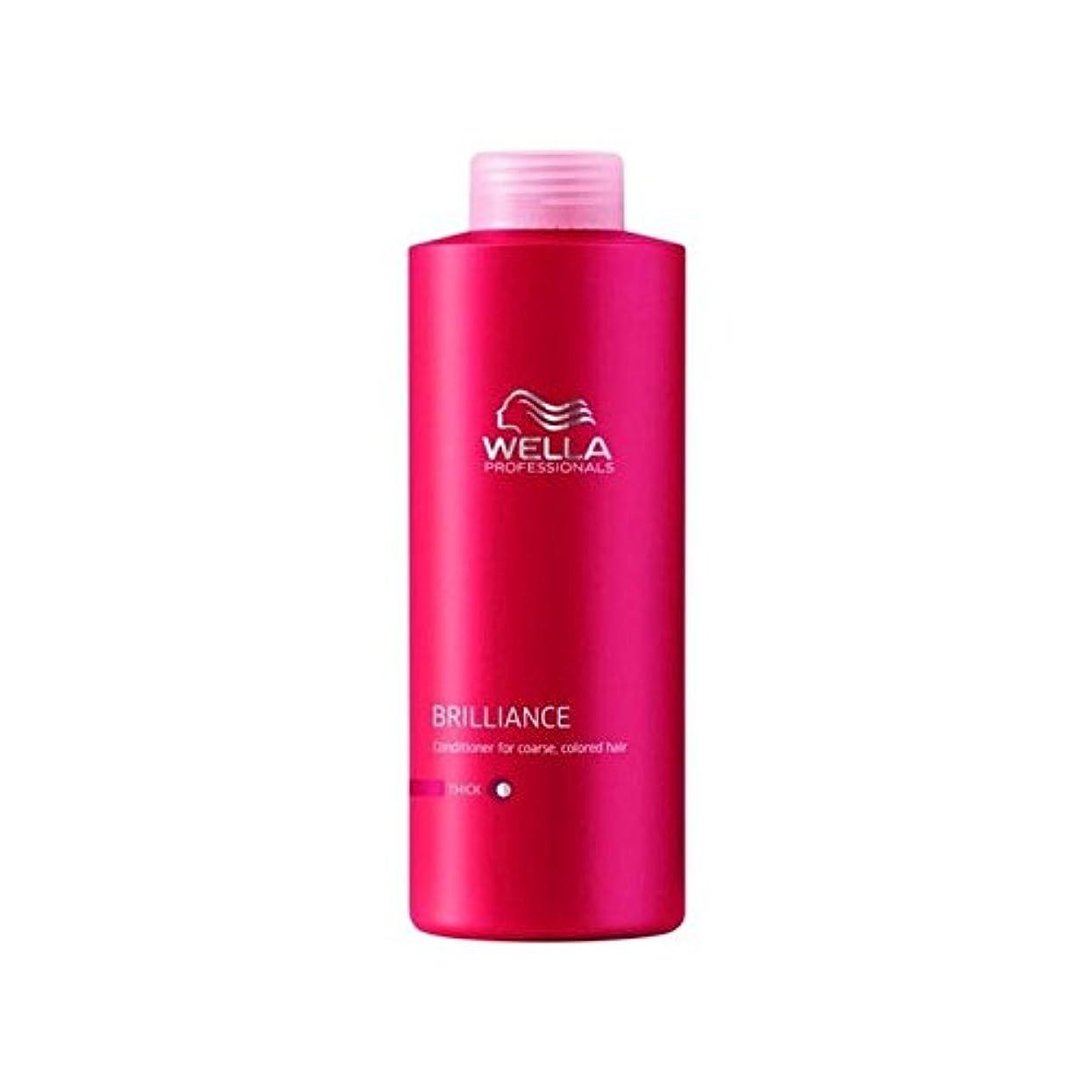 楽しませる雇う安全ウェラの専門家は粗いコンディショナー(千ミリリットル)をブリリアンス x4 - Wella Professionals Brilliance Coarse Conditioner (1000ml) (Pack of 4)...