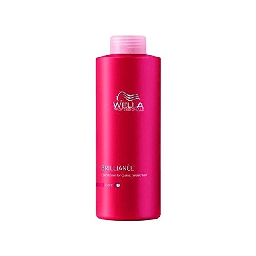 不正直メロン貞ウェラの専門家は粗いコンディショナー(千ミリリットル)をブリリアンス x4 - Wella Professionals Brilliance Coarse Conditioner (1000ml) (Pack of 4)...