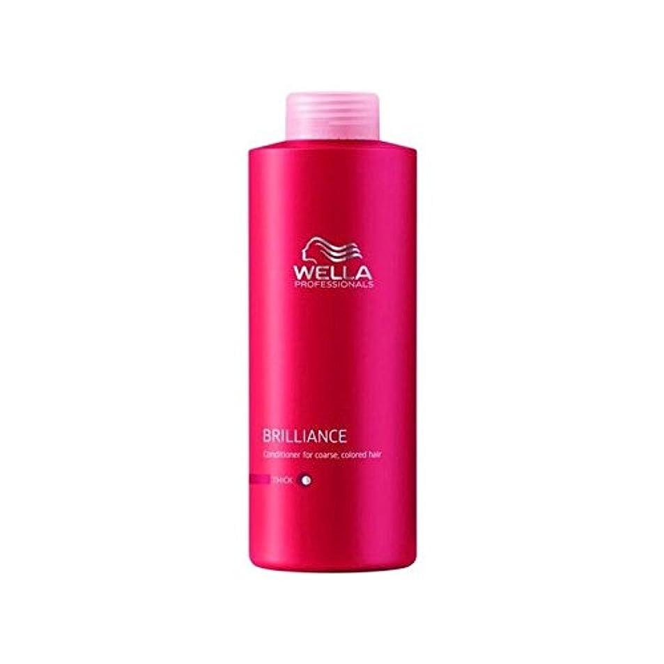 すり先生相手ウェラの専門家は粗いコンディショナー(千ミリリットル)をブリリアンス x4 - Wella Professionals Brilliance Coarse Conditioner (1000ml) (Pack of 4)...