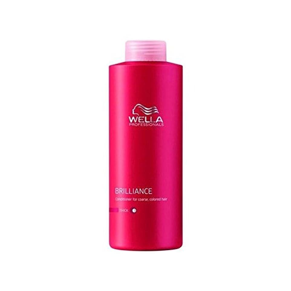 真実にかなりの贈り物ウェラの専門家は粗いコンディショナー(千ミリリットル)をブリリアンス x4 - Wella Professionals Brilliance Coarse Conditioner (1000ml) (Pack of 4)...