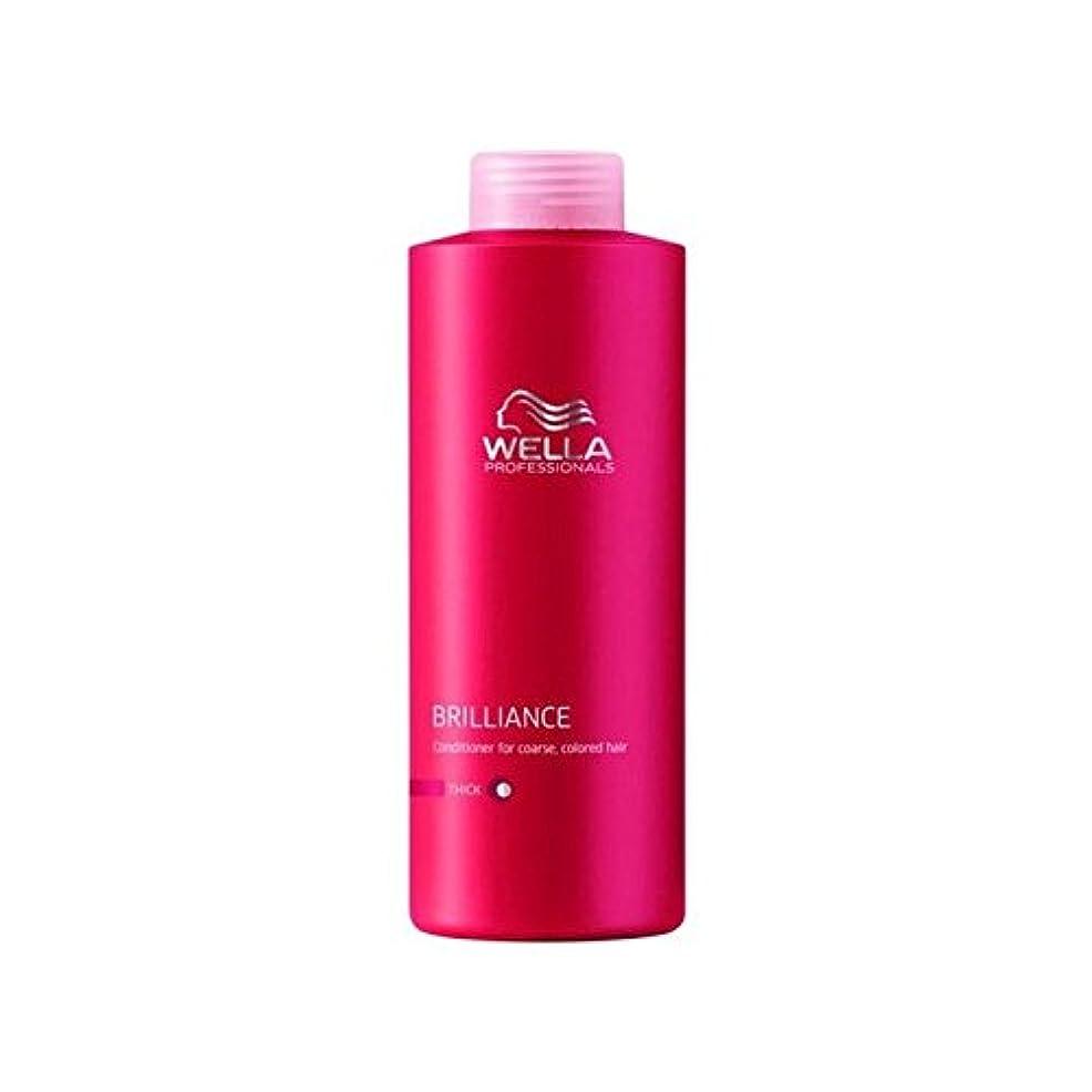 モチーフプログラム不道徳ウェラの専門家は粗いコンディショナー(千ミリリットル)をブリリアンス x4 - Wella Professionals Brilliance Coarse Conditioner (1000ml) (Pack of 4)...
