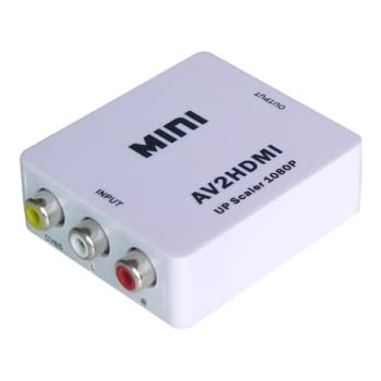 コンポジット(黄)映像を、HDMIに変換する:RCA/AVケーブルからHDMIへの変換アダプター:コンポジットto HDMI アップスケールコンバーター/av to HDMI変更アダプター/コンポジット端子ーHDMI端子への出力用コンバーター