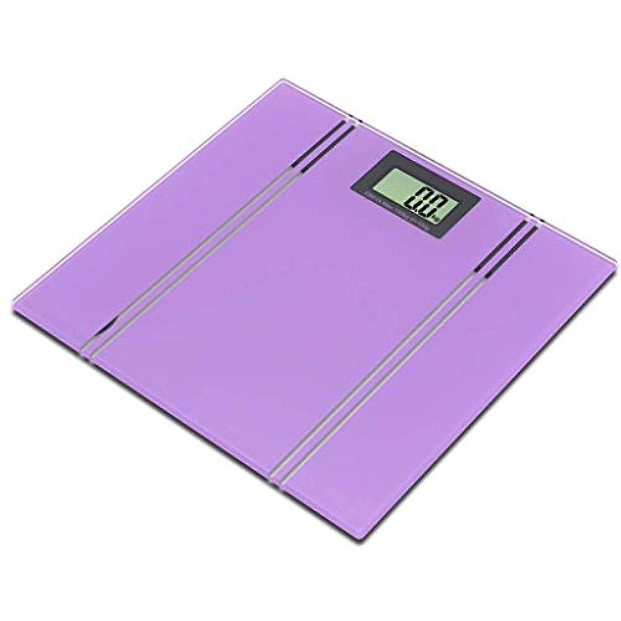 作成者雑草暫定CONCEN 電子スケール人体スケールスケールホーム正確な人体健康減量スケールホーム人間のスケール (Color : Purple)