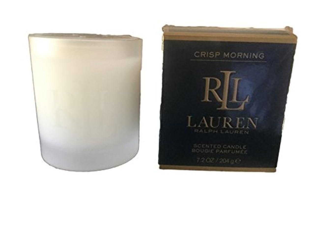 道徳の注目すべき忌み嫌うRalph Lauren Crisp Morning Scented Candle 7.2 Oz