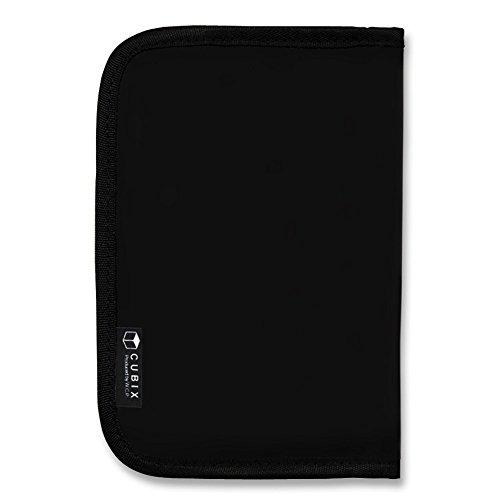 キュービックス ブックカバー ラウンドジップ (文庫サイズ) ブラック 114015-15