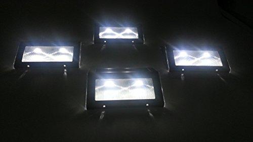 Riearena 暗くなったら 勝手に点灯 ソーラー LED フット ガーデン ライト 【日本語説明書付き】 3個セット Shop Rit'z