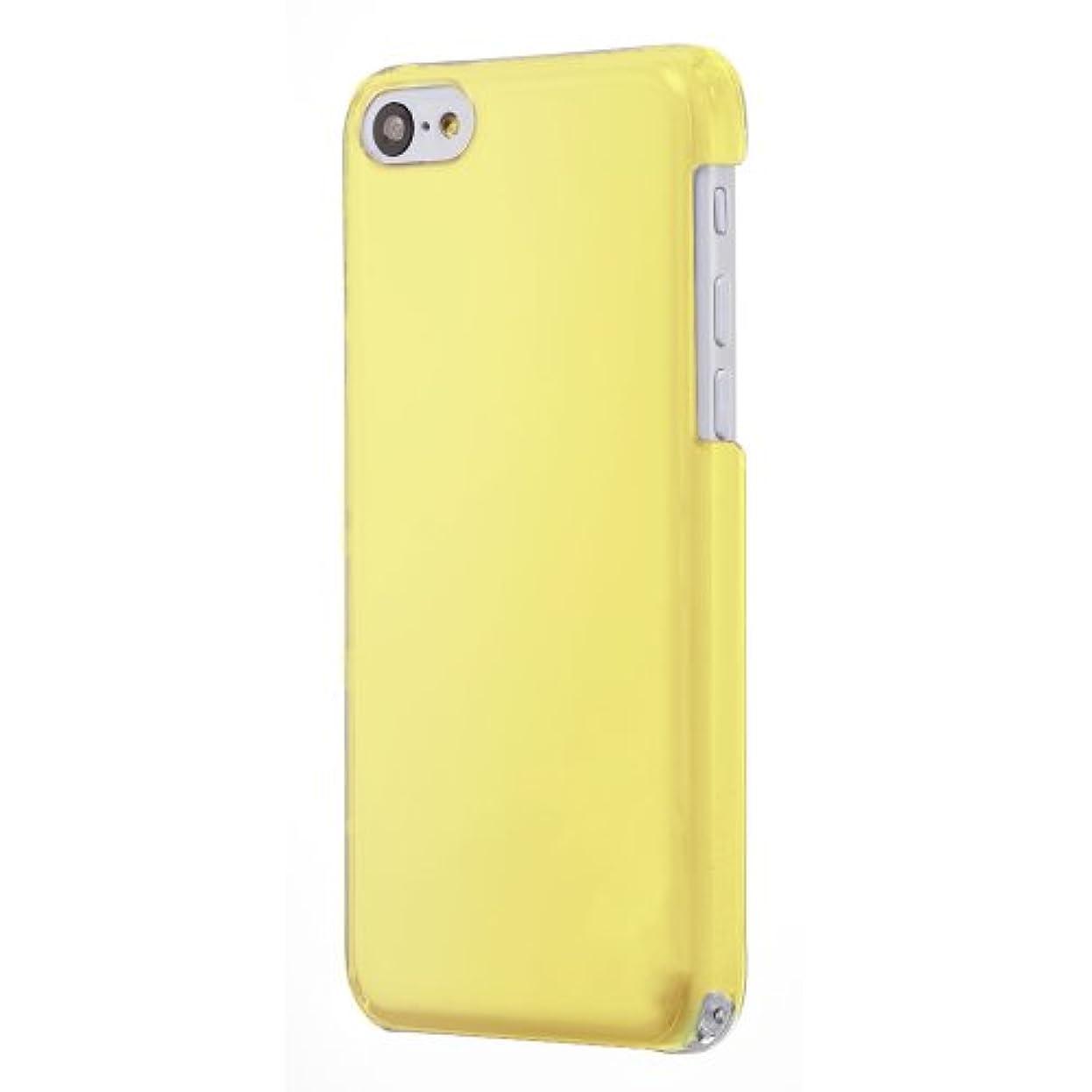 不機嫌そうな和密接にSimplism iPhone 5C クリスタルカバー 傷防止コーティング/ストラップホール/抗菌/液晶保護フィルム付属 ミモザイエロー TR-CCIP13L-YL