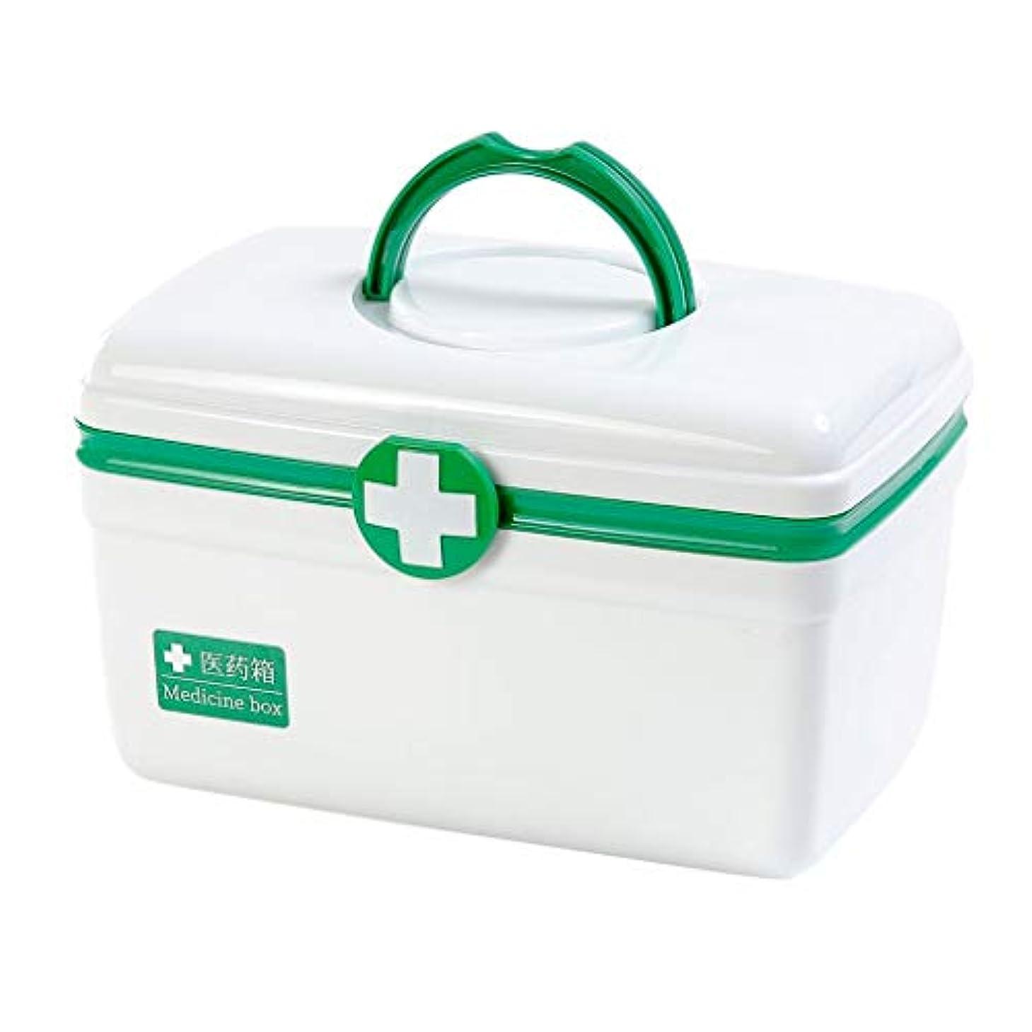 床を掃除するレベルレジピルボックスPP家庭用薬ボックス薬収納ボックス (色 : 緑, サイズ さいず : L29cm)