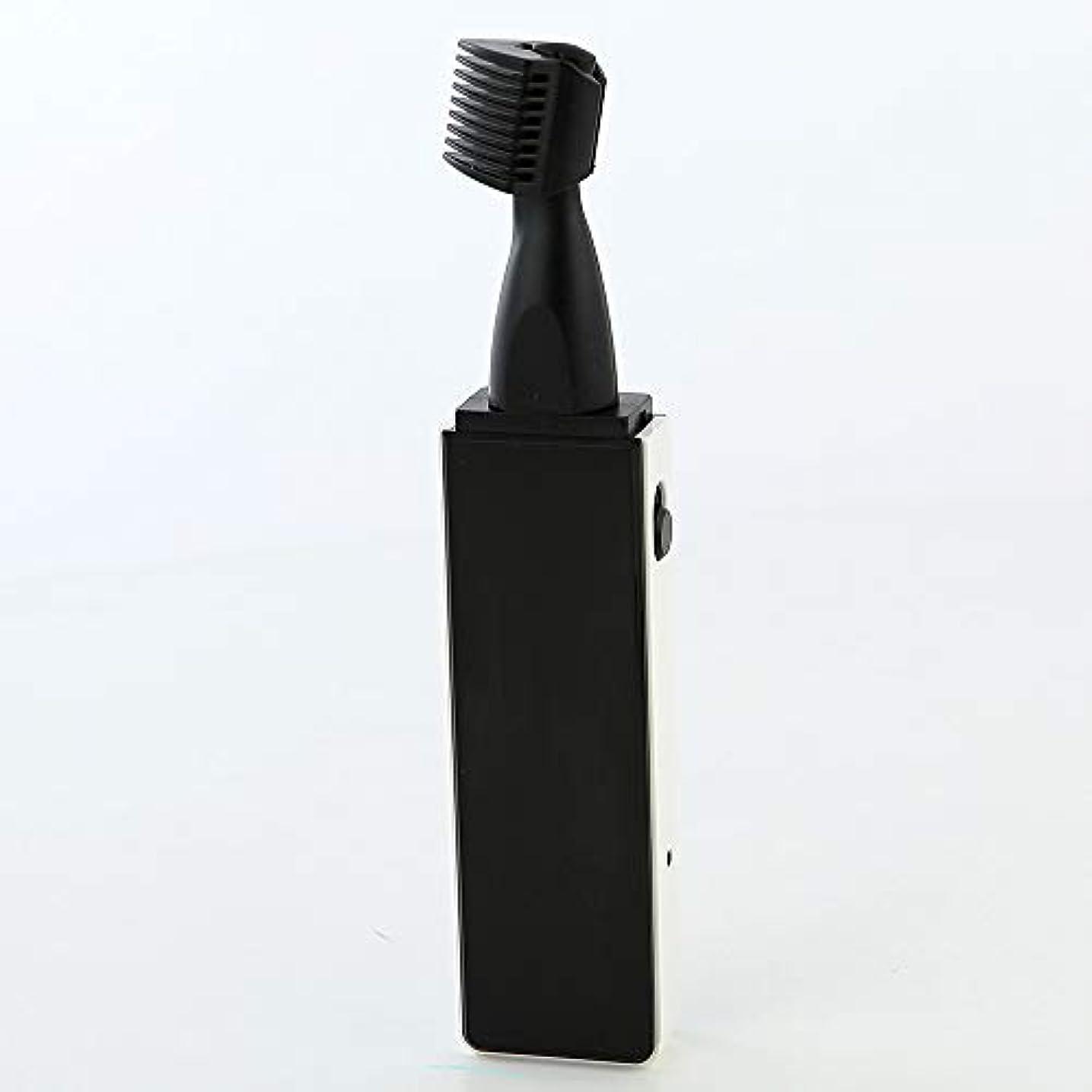 クスクスアウター重要性鼻毛トリマー、男性の眉毛トリマーのための1つの鼻毛トリマー3 in 1プロフェッショナル鼻毛トリマー再耳当て可能,黒
