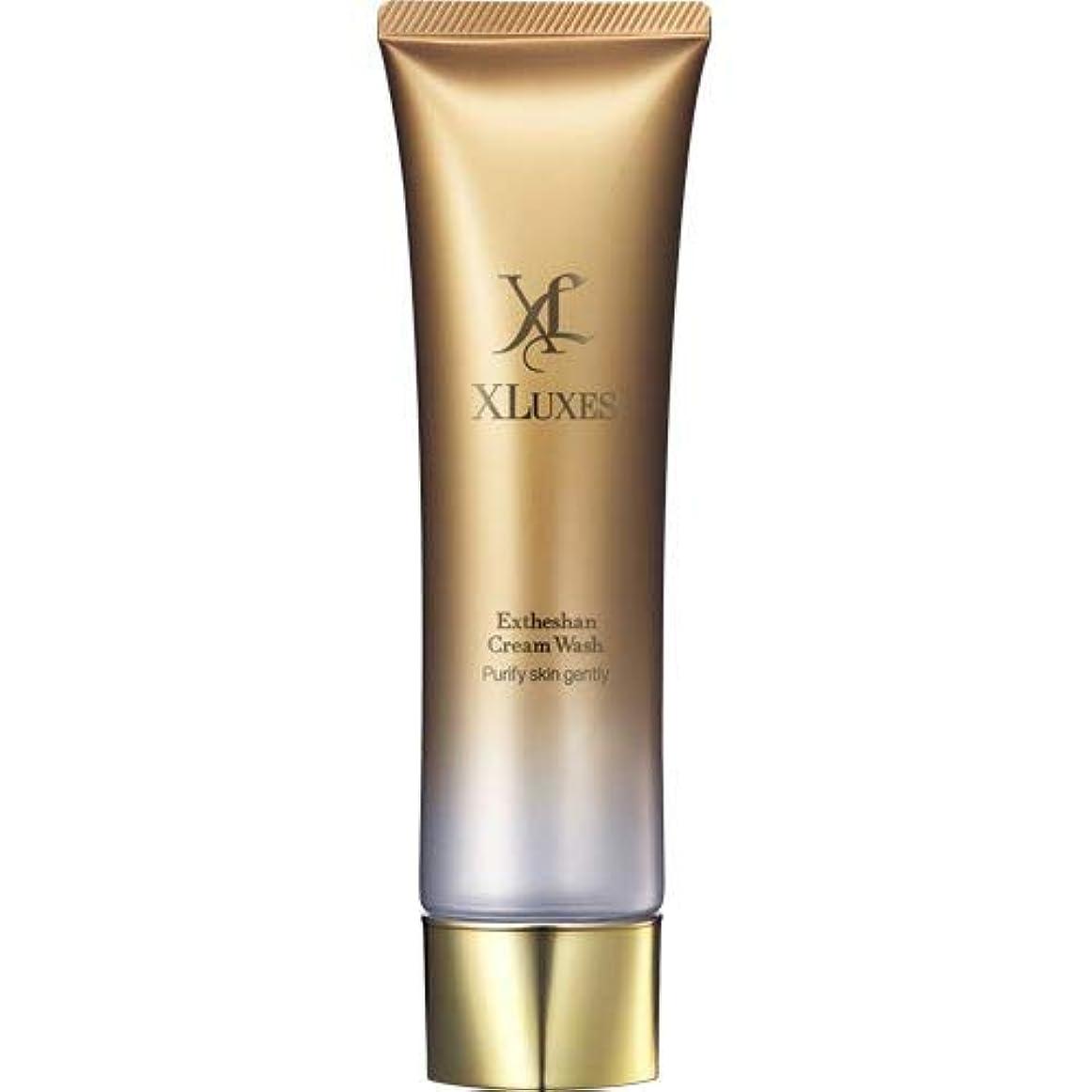 偏心一緒に中央XLUXES 美容液洗顔 [ヒト幹細胞 培養液配合] エグゼティシャン クリームウォッシュ (ダマスクローズの香り)
