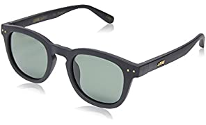 Local Supply Men's AVENUE Polarized Sunglasses - Dark Green Tint Lens, Matte Black Frames