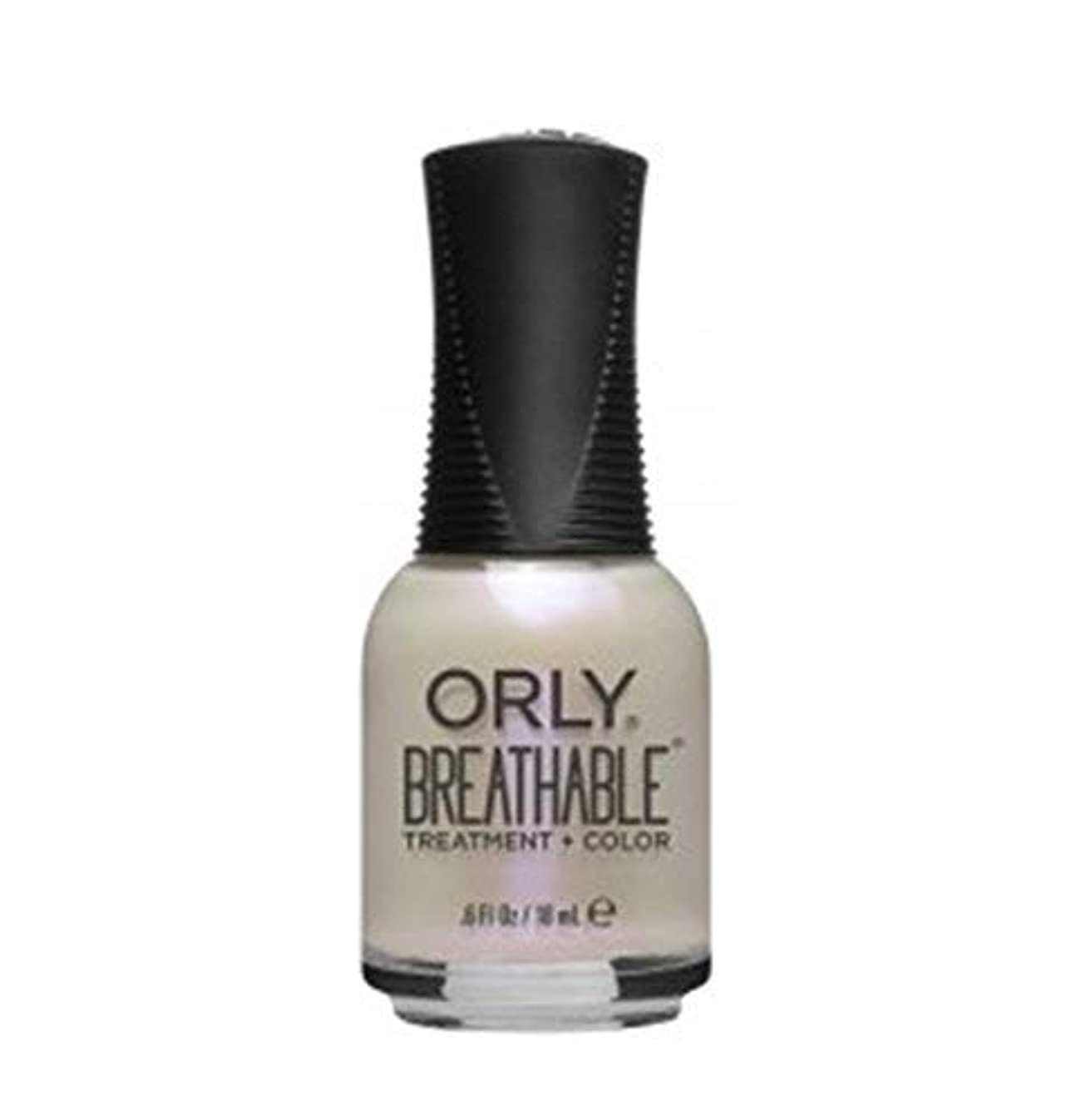 受粉する故障健全ORLY Breathable Lacquer - Treatment+Color - Crystal Healing - 18 ml/0.6 oz