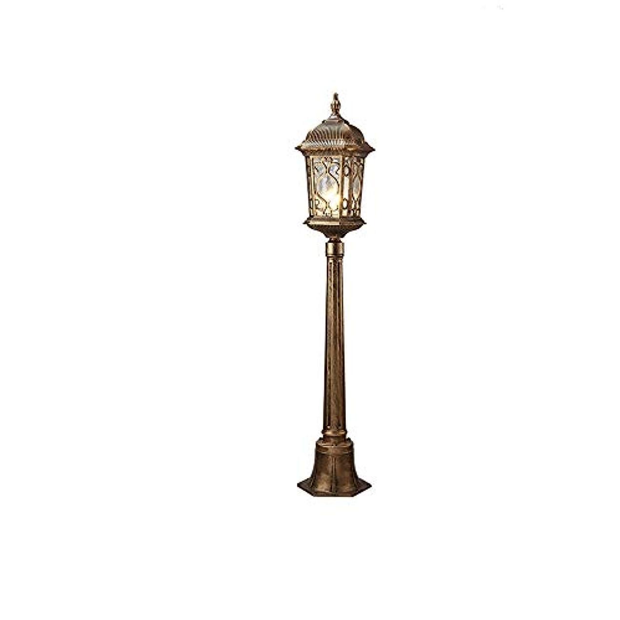 郵便局処分した昼寝Pinjeer E27ヴィンテージ屋外ガラスランプシェードポール街路灯ライトIP55防水金属アルミ戸外道ウェイポストライトガーデンヴィラ芝生中庭装飾コラムランプ (Color : Brass, サイズ : Height 1.15m)