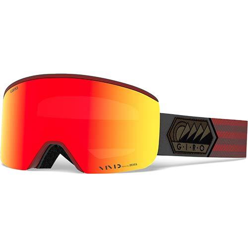 [ジロ] メンズ AXIS AF アクシス アジアンフィット スノーボードゴーグル Dark Red Sierra Vivid Ember 37/Vivid Infrared58 70950