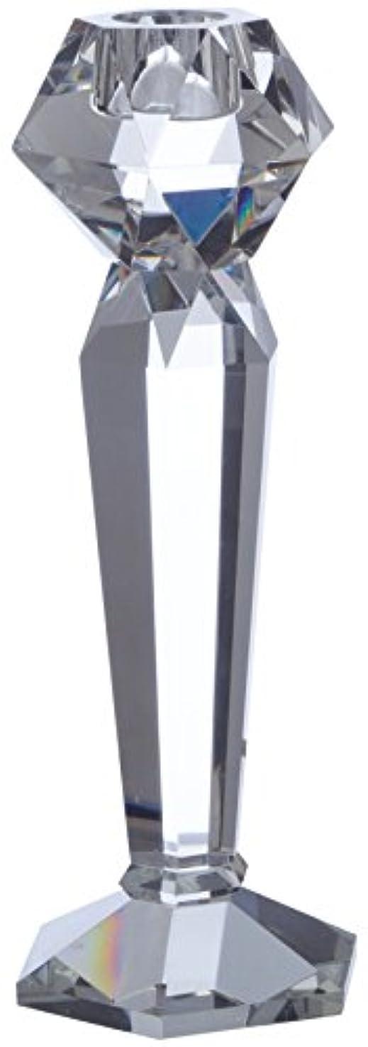 弱い垂直カプセルポアン?ア?ラ?リーニュ ファセッツキャンドルホルダーS テーパーキャンドル用 ガラス製