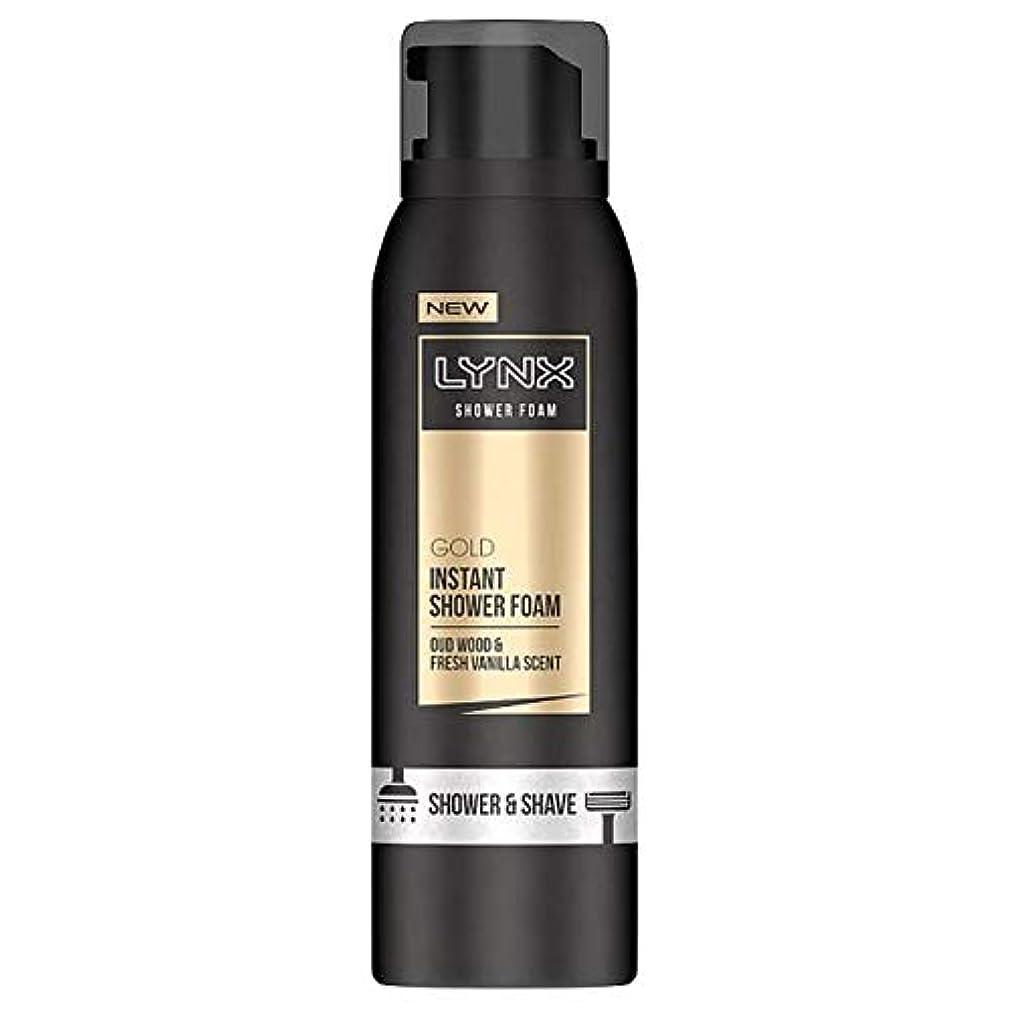 スポット実現可能性どきどき[Lynx] オオヤマネコ金シャワー泡200ミリリットル - Lynx Gold Shower Foam 200Ml [並行輸入品]