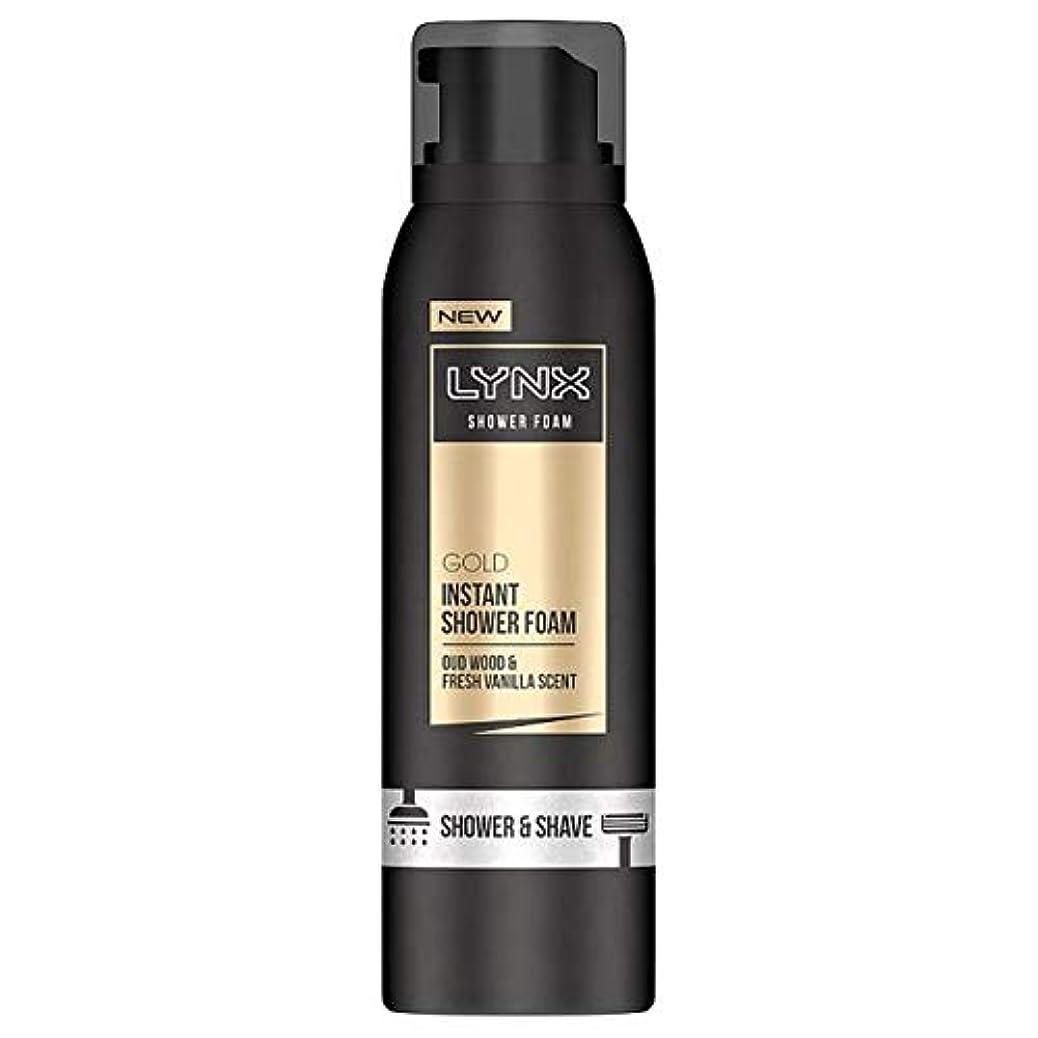 ウナギ思慮のない天国[Lynx] オオヤマネコ金シャワー泡200ミリリットル - Lynx Gold Shower Foam 200Ml [並行輸入品]