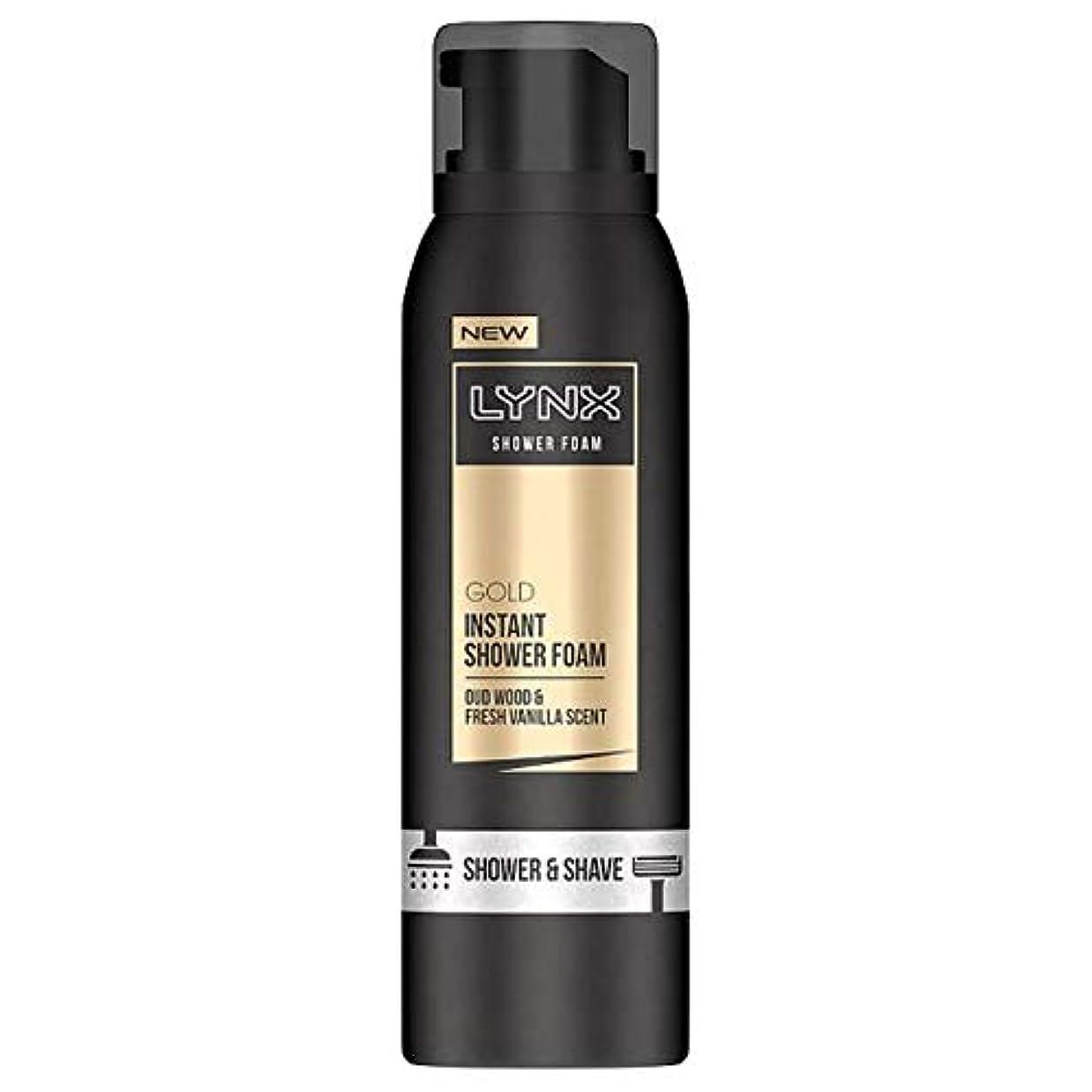 食用びん許さない[Lynx] オオヤマネコ金シャワー泡200ミリリットル - Lynx Gold Shower Foam 200Ml [並行輸入品]