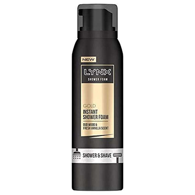 責める置くためにパックますます[Lynx] オオヤマネコ金シャワー泡200ミリリットル - Lynx Gold Shower Foam 200Ml [並行輸入品]