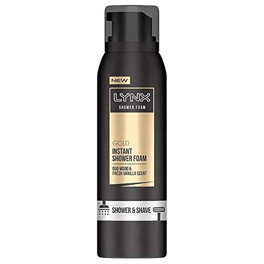 飢え回想ドロー[Lynx] オオヤマネコ金シャワー泡200ミリリットル - Lynx Gold Shower Foam 200Ml [並行輸入品]